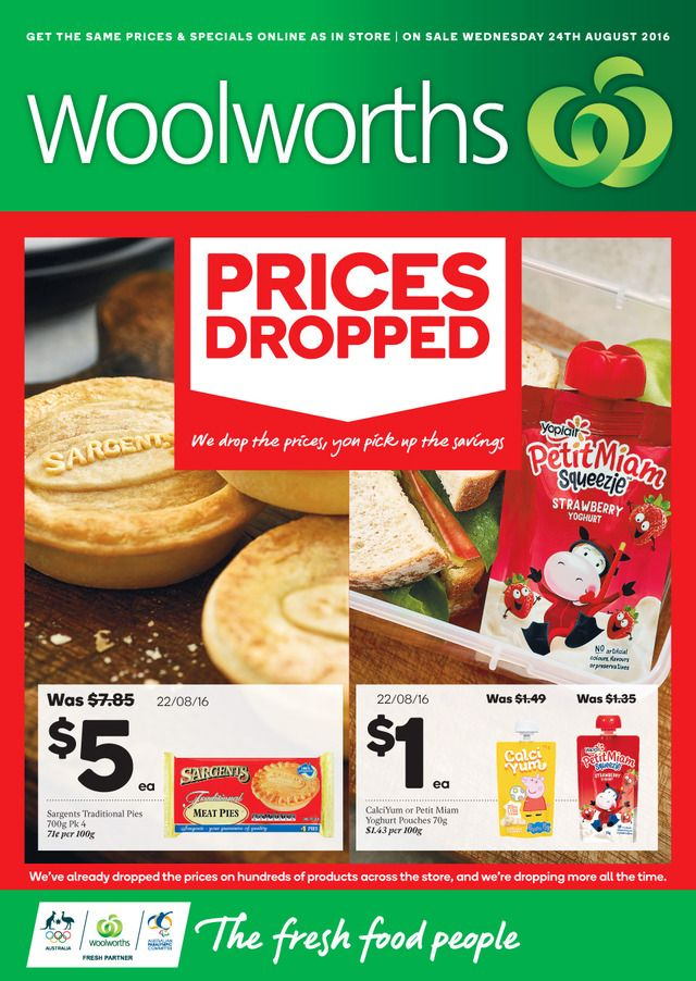 Woolworths Catalogue 24 - 30 August, 2016…