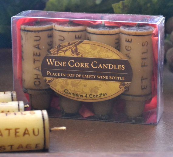 Wine Cork Candles set of 4 packaged gift set by GlowliteCandles, $8.00