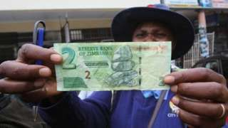 Image copyright                  Reuters                                                     Zimbabwe has launched its own money for the first time since the country's dollar was abandoned seven years ago amid rampant inflation. The bond note, which is worth one US dollar – the country's main currency since 2009 – is raising fears of a retu