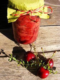 Cseresznye csatni (Chutney) Az eper után, cseresznye dömping volt nálunk (sajnos most csak néhány marék gyümölcs érik:   még eper, piszke, málna, ribizli, meggy,...