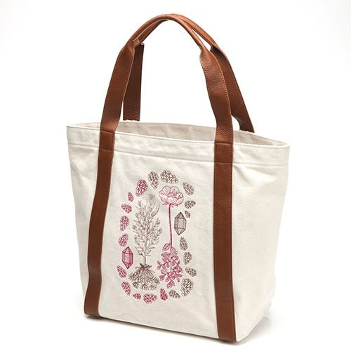 Image of Poppy Wreathe Canvas Tote
