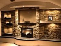 Faux mantle and Faux fireplace
