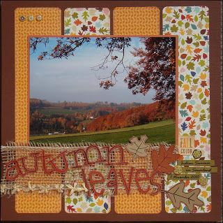 Simple Fall scrapbook layout page idea.