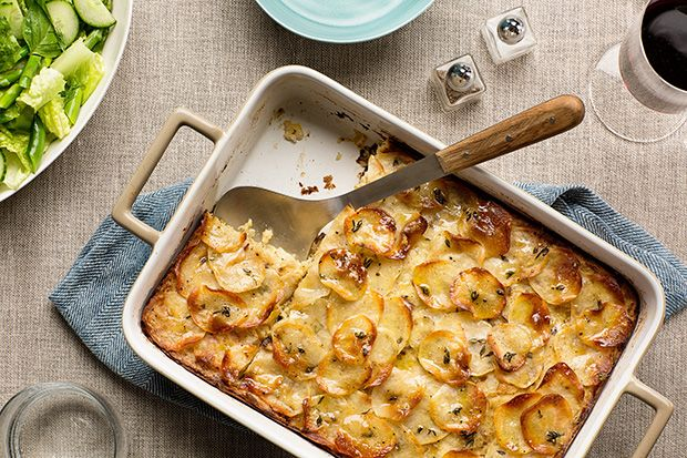 Find the recipe for Crispy Potato-Leek Kugel and other potato recipes at Epicurious.com