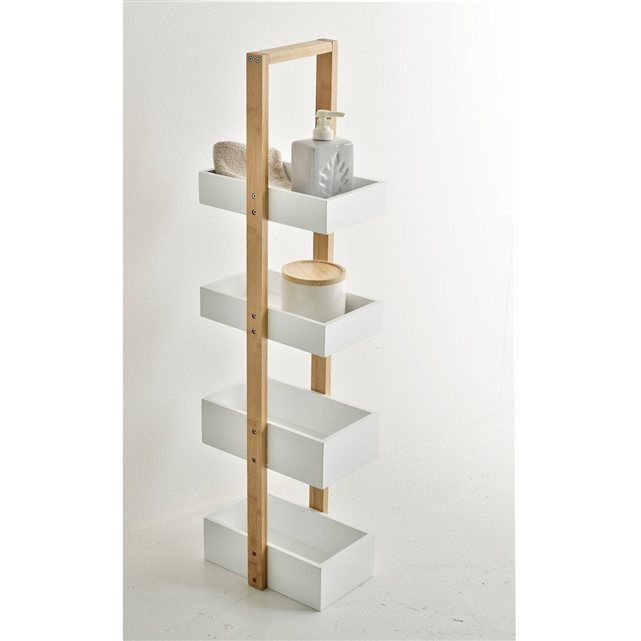 Etagère de salle de bains, bambou, LINDUS. La Redoute Interieurs : prix, avis…