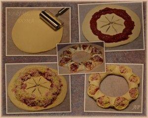 Pizza věnec – fotokoláž