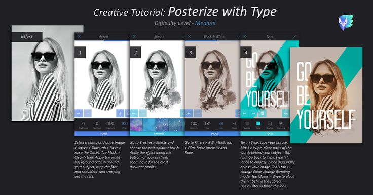 Creative tutorial: Posterize with Type.