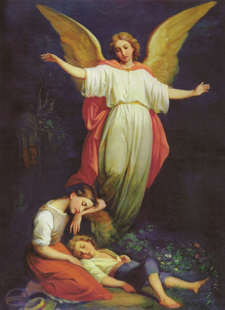 Guardian Angel by Heinrich Kaiser (1813-1900 | Religious ...