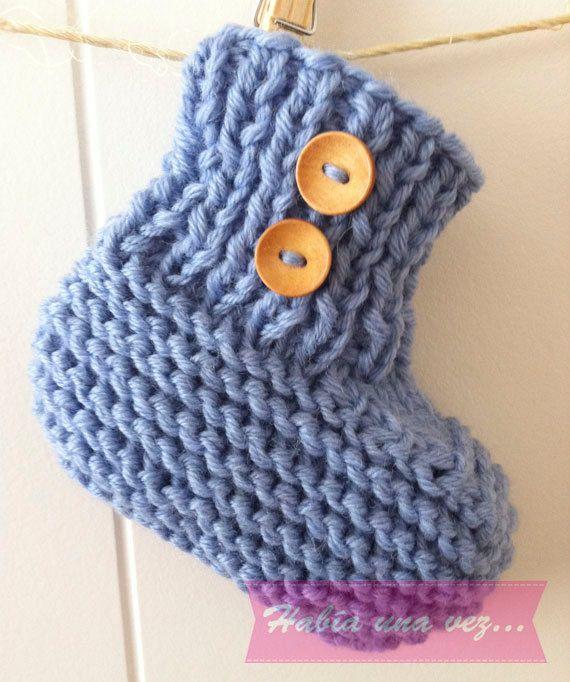 Botitas tejidas bebé niño on Etsy, US$15,00