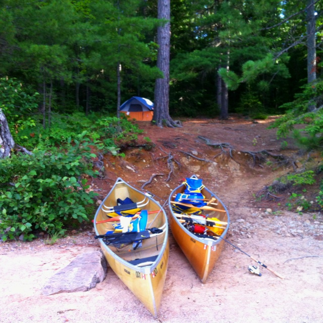 Camping and portaging at Algonquin Park