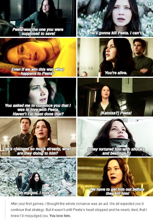 Katniss loves Peeta | Mockingjay Part 2
