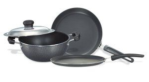 (Back Again) Amazon- Buy Prestige Omega Select Plus Non-Stick BYK Set (3-Pieces) at just Rs 1099 only