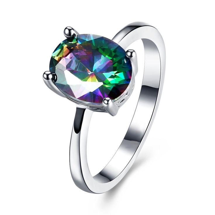 Fashion Hot rings for women girls Austrian crystal engagement wedding bridal charm finger ring gift silver plated bague jewelry