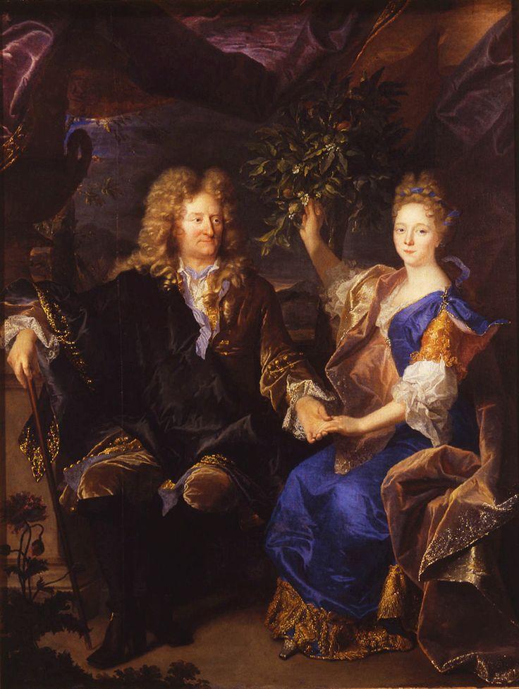 Hyacinthe Rigaud, Le comte Jan Andrzej Morsztyn et sa fille, Portret Jana Andrzeja Morsztyna z córką Izabelą Czartoryską, 1693