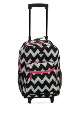 Rockland 17-Inch Rolling Backpack - Pink - 17 2
