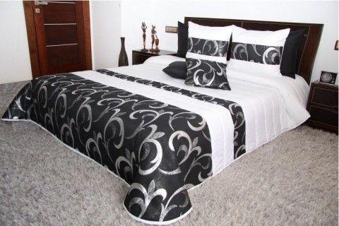 obojstranny-prehoz-na-manzelsku-postel-bielo-ciernej-farby-s-ornamentami
