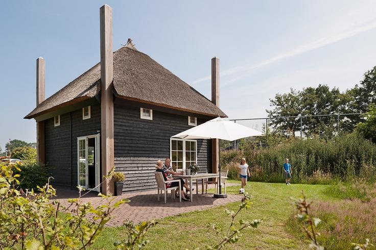 Luxe vakantiehuisje gebaseerd op een hooiberg uit de Reggestreek (Twente).