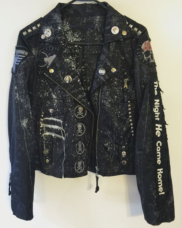 Rocker Jackets from Chad Cherry Clothing. Horror. Distressed jackets. Custom jackets. Embroidery jackets.