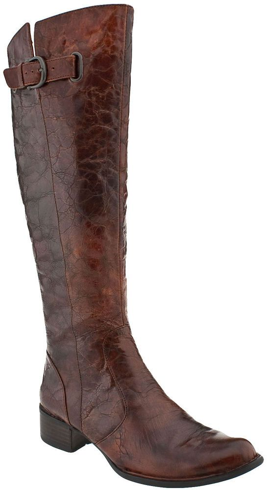 New Born Crown Womens Sosie Brown Leather Buckle Tall Knee -3166