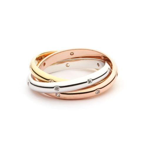 Trinity Tri-Coloured Interlocking Ring