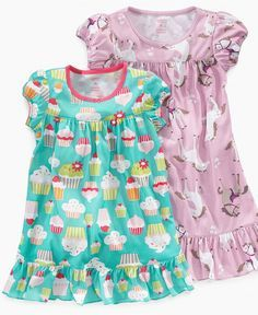Carter's Kids Sleepwear, Big and Little Girls Graphic Print Nightgown - Kids Pajamas, Underwear & Socks - Macy's