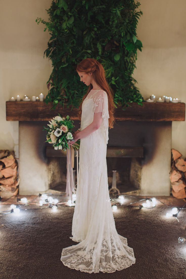 Photo by Candy Capco Photography Flowers and styling Twig & Arrow  dress Rue De sine courtesy of Paperswanbride  Model Samantha Vottari  hair Miss Dom  Make up the Leo style  venue Boomrock