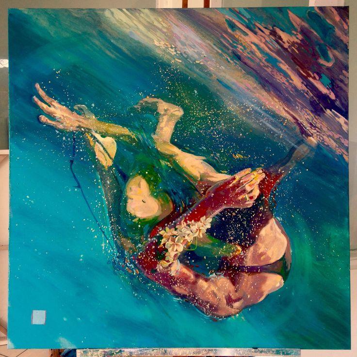 surf art, canvas 100x100cm #surfart #surf