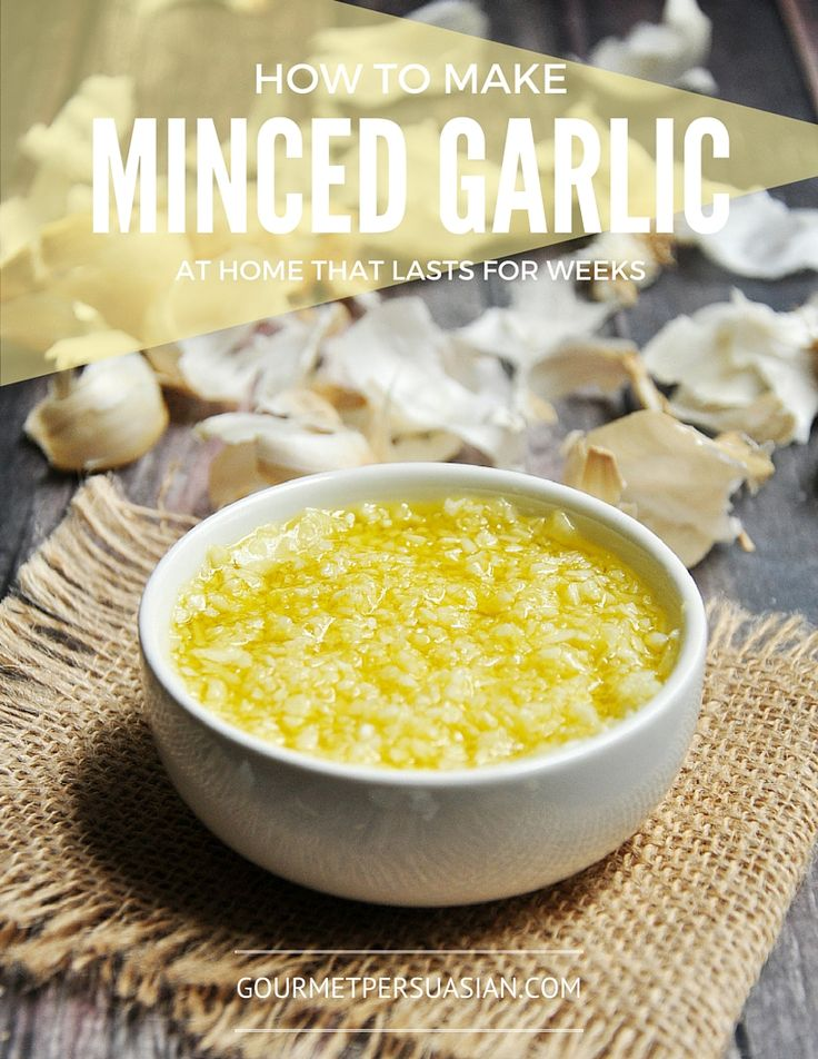 A step-by-step photo guide to show you how to make minced garlic at home that can last for weeks. It's a trick often used in restaurants.