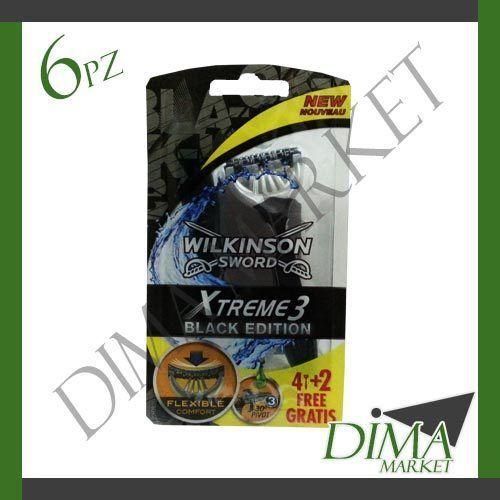 6 PEZZI WILKINSON SWORD XTREME 3 RASOIO USA E GETTA 3 LAME FLESSIBILI
