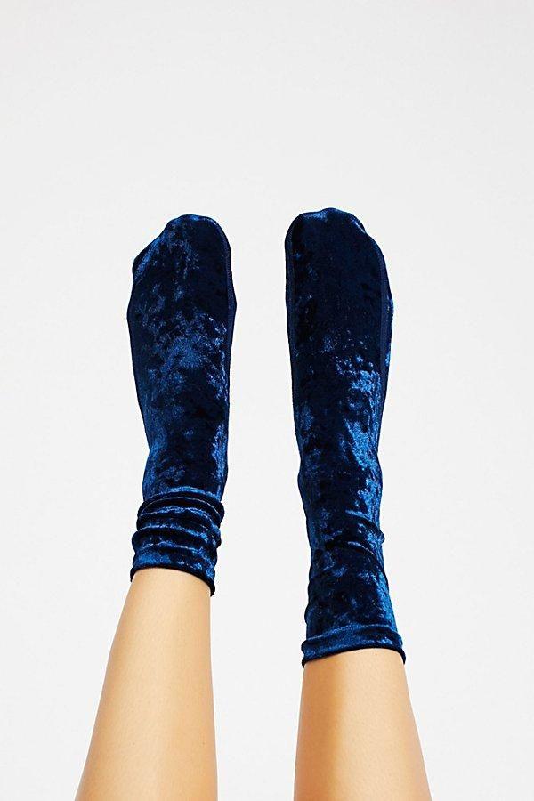 Go Go Velvet Sock // Sapphire