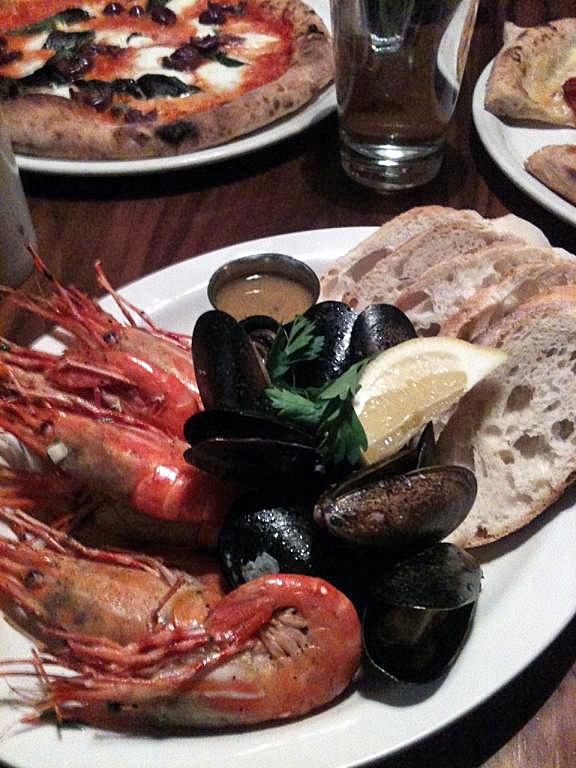 BC Spot Prawns & Saltspring Island Mussels cooked al forno. Gotta love BC.