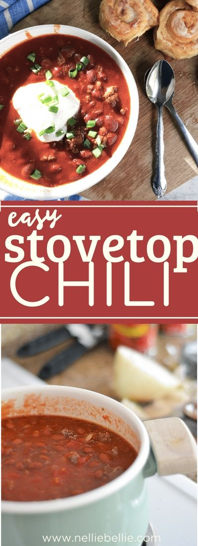 This easy stovetop chili recipe is done in 35 minutes! This recipe uses venison meat but you can use whatever meat your family prefers. A delicious and easy stove-top venison chili! via @miznelliebellie