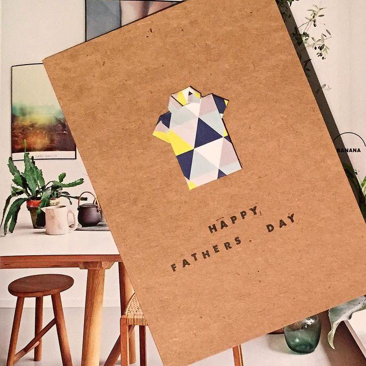 "ely studio // handmade cards on Instagram: ""Create a custom card for him! Father's Day / Sept 6 Elystudio.com #fathersday #thanksdad #dad #gift #celebrate #greetingcard #shoponline #shopnow #handmade #origami #pattern #print #ink #stamp #shirt #sydneyhandmade #reallivingmag #paper #paperlove #triangles #geometric #fun #studio #design #creative #craft #madewithlove #personalise #customorder"""
