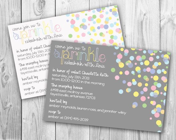 Modern & Colorful Sprinkle Baby Shower Invitation- by Oh, Happiness! Stationery