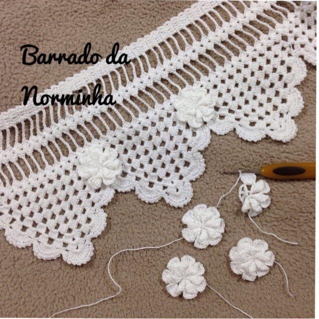 OFICINA DO BARRADO: Crochê - BARRADO renovado ... Em branco total !!!