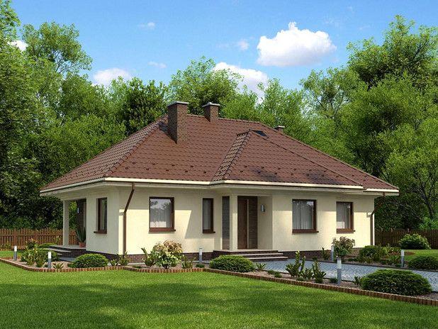 #Projekt TSQ-294 przykryty czterospadowym dachem nowoczesny dom o dużych oknach. Wygodnie zamieszka w nim pięcioosobowa rodzina.  Zwróćcie uwagę na kuchnię, niby otwarta, ale jednak na uboczu! Sprawdź :)
