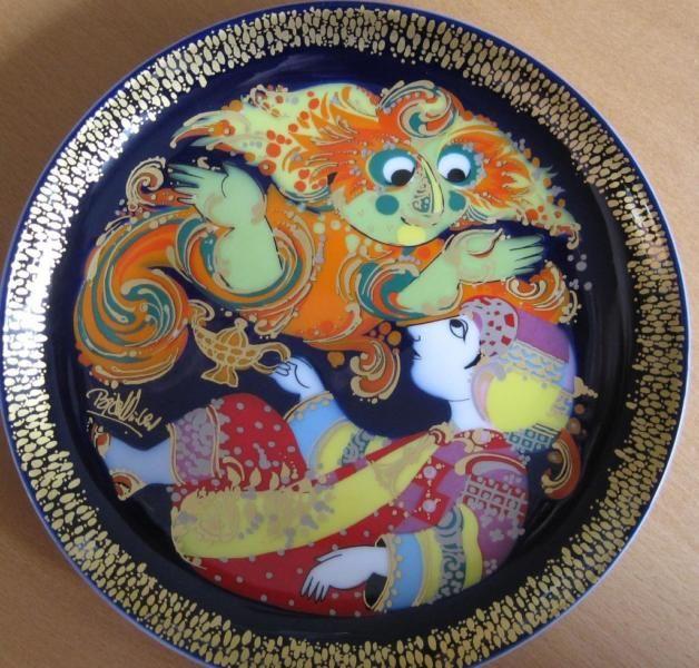 Best Rosenthal Sammelteller Wandteller Aladin und die Wunderlampe von Bj rn Wiinblad Ich verkaufe