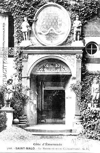 Saint malo la maison de naissance de chateaubriand for Maison de naissance remiremont