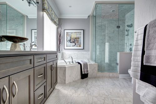 Model Home Bathroom Glamorous So Spacious Our Waterleaf Model In Oakville's Preserve Design Decoration