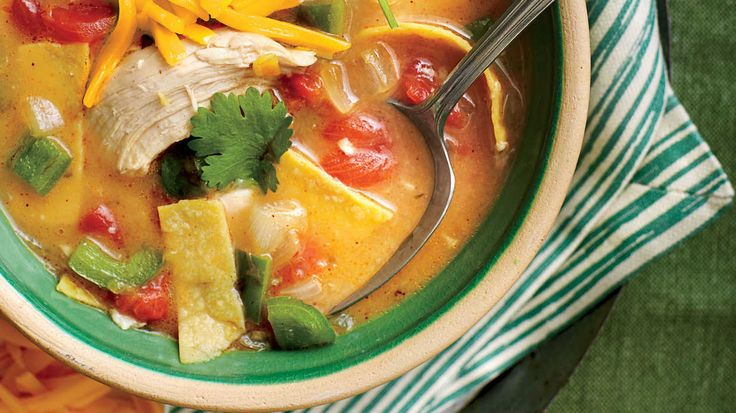 This restaurant-style Tex-Mex dish is both rich and a cinch to prepare.    Recipe: King Ranch Chicken Soup