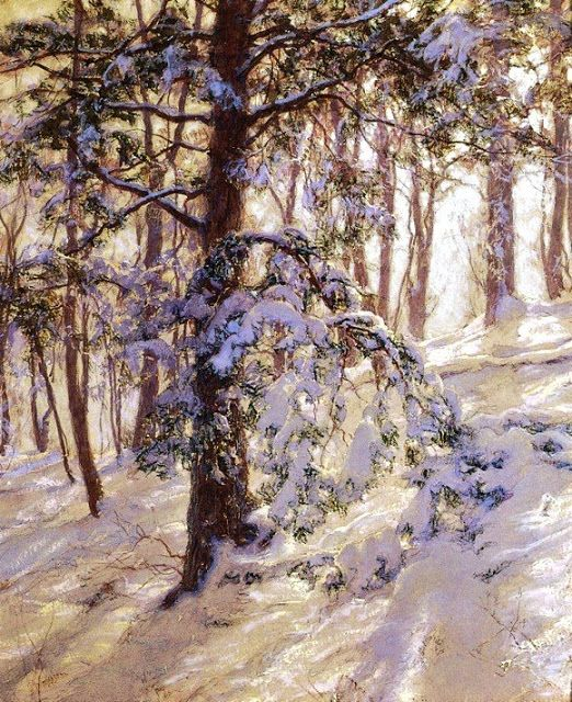 Walter Launt Palmer (American painter, 1854-1932) The Bent Branch