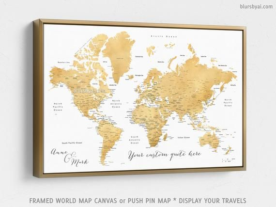Framed push pin map, gold world map, personalized world map ... on national geographic personalized map, persona map, usa map, personalized world globe, personalized map u.s. travelers, yoga mind map, personalized travel map, personalized map jigsaw puzzle, personalized wall map, road map, places i have been map, personalized map gifts,