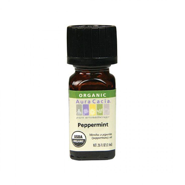 Aura Cacia Organic Peppermint Essential Oil 0.25 fl. oz.