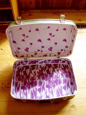 How to reline a vintage suitcase
