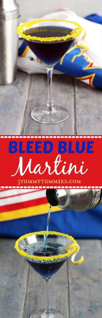 This Bleed Blue Marti with Blue Curacao and Cranberry juice is to honor the St. Louis Blues' quest to win the Stanley Cup for the first time.  Let's Go Blues!!!