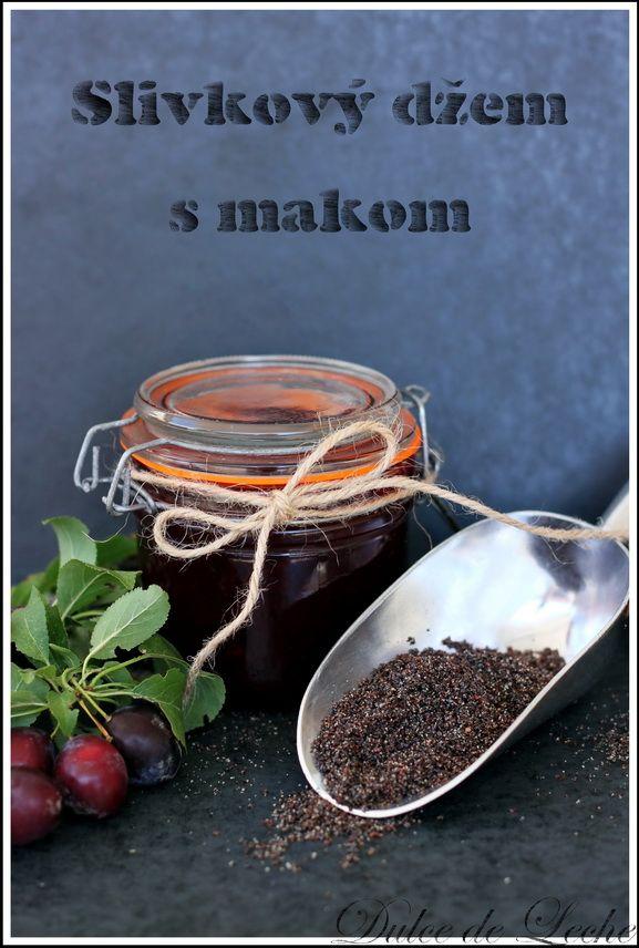 Slivkový džem s makom