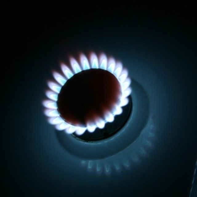 Gas stove jets are sometimes clogged by grease or other debris.