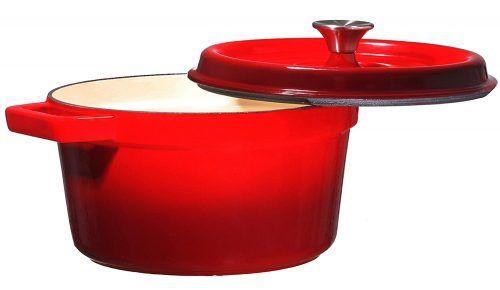 Enameled Cast Iron Dutch Oven Casserole Dish 6.5