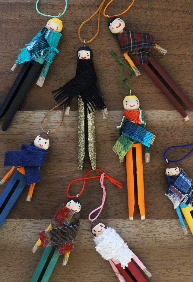clothespin dolls and ornaments   DIY Clothespin Doll Ornaments