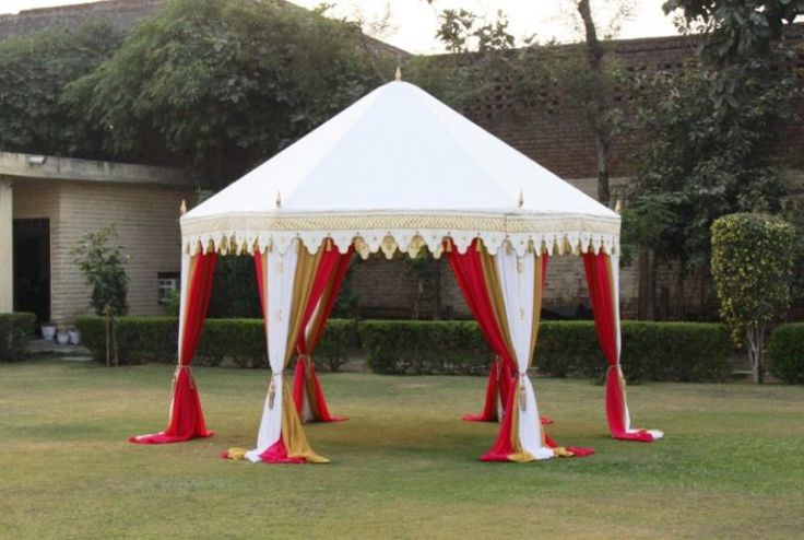 Stylish Garden Tent that is open from all sides to welcome the breeze